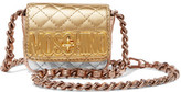 Moschino Metallic Color-Block Quilted Leather Shoulder Bag