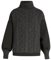 Tomas Maier Contrast-panel high-neck sweater