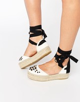 Carvela Leather Embellished Espadrille
