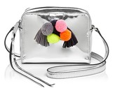 Rebecca Minkoff Sofia Pom Pom Metallic Mini Crossbody