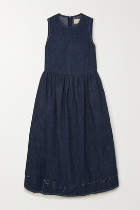 &Daughter Evelyn Hemp Midi Dress - Indigo