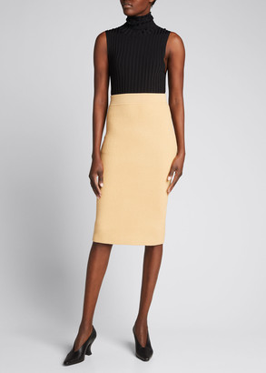 Michael Kors Collection Ribbed Cashmere Pencil Skirt