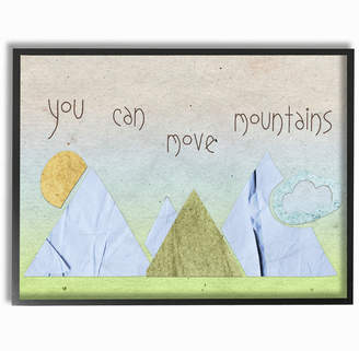 Möve Stupell You Can Mountains Collage Blue By Daphne Polselli Framed Art
