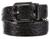 Dolce & Gabbana Caiman Buckle Belt