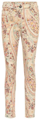 Etro Paisley mid-rise skinny jeans