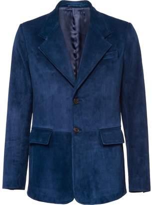 Prada single-breasted suede jacket