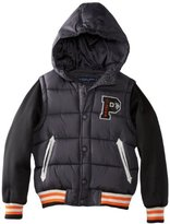 U.S. Polo Assn. U.S. Polo Association Boys 8-20 Vest with Attached Hood and Fleece Sleeves