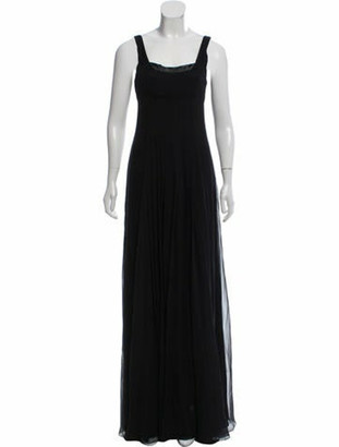 J. Mendel Embellished Silk Dress w/ Tags Black