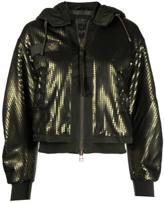 Mr & Mrs Italy x Audrey Tritto sequin bomber jacket