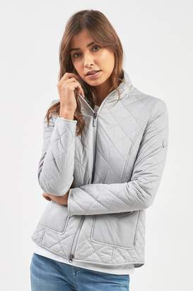 Barbour Womens Ice White Lightweight Helm Quilt Jacket - Grey