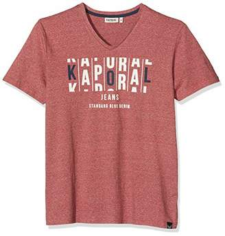Kaporal Men's Molia T-Shirt, Mélange Red Mel, Small