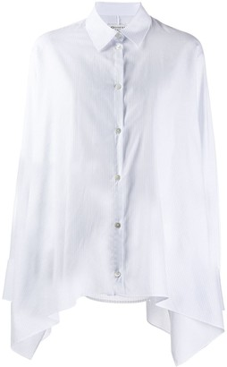 Maison Margiela asymmetric striped shirt