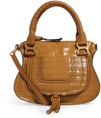 Chloé Medium Leather Croc-Embossed Marcie Bag