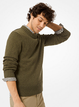 Michael Kors Cotton and Linen Pullover - Olive