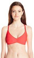 Volcom Women's Simply Solid V Neck Bikini Top