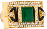 Rachel Zoe Green Quartz Crystal Ring