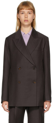 Eftychia Brown Different Sides Blazer