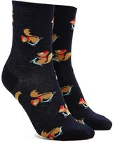 Forever 21 FOREVER 21+ Squirrel Graphic Crew Socks