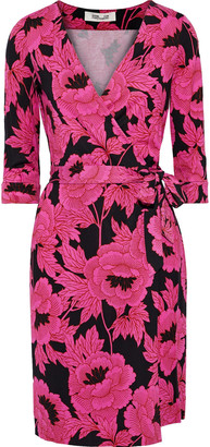 Diane von Furstenberg New Julian Floral-print Silk-jersey Wrap Dress