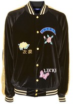 Jaded London **Velvet Bomber Jacket with Sequin Sleeve
