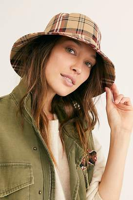 Free People Chaise Plaid Bucket Hat