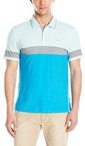 Calvin Klein Men's Liquid Cotton Short Sleeve Color Blocked Polo