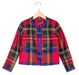 Oscar de la Renta Girls' Wool Plaid Jacket w/ Tags