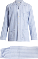Derek Rose Arran brushed-cotton pyjama set