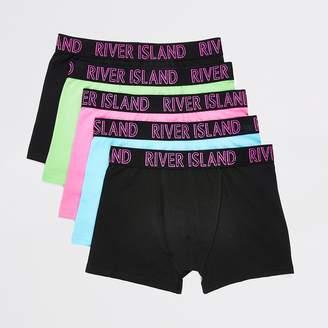 River Island Boys neon multicoloured boxers 5 pack