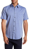 James Campbell Barnes Stripe Regular Fit Woven Shirt