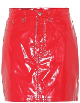 Calvin Klein Jeans Faux patent leather miniskirt