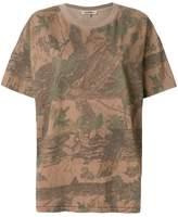 Yeezy leaf print oversized T-shirt