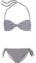Tory Burch Striped Bandeau Bikini - Navy