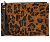 Whistles Leopard Print Leather Wristlet