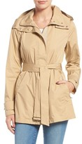 Cole Haan Women's Packable Belted Rain Coat
