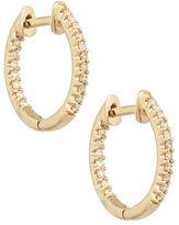 Fine Jewellery Diamond and 14K Yellow Gold Hoop Earrings