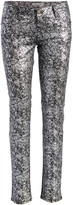 Couture Miss Kitty Women's Denim Pants and Jeans SILVER - Silver Metallic Skinny Jeans - Juniors