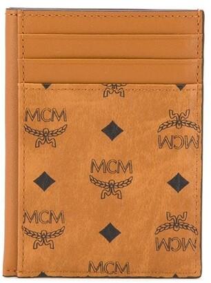 MCM Logo Print Card Wallet