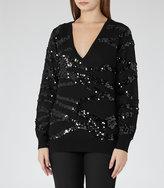 Reiss Ruby Sequin-Embellished Jumper