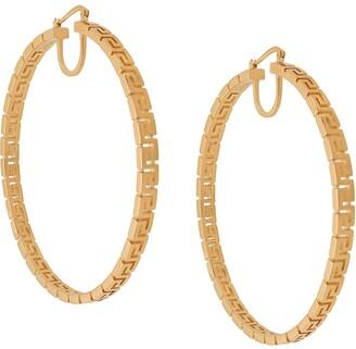 Versace Greca Key hoop earrings