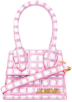 Jacquemus Le Chiquito Bag in Print Pink Checked   FWRD