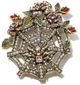 "Heidi Daus Captured in Beauty"" Spider Web Crystal Pin"