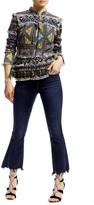 Nicole Miller Printed Tweed Peplum Jacket