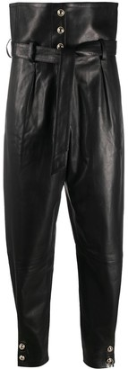 IRO Ketchi tapered leather trousers