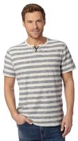 Mantaray Big And Tall Navy Broken Striped T-shirt