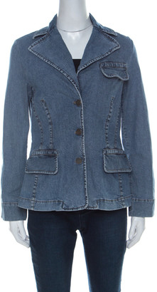 HUGO BOSS Boss by Blue Stretch Denim Tailored Fit Jacket L