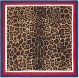Gucci Leopard print silk scarf
