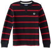 Chaps Boys 4-7 Striped Thermal Tee