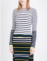 Pringle Striped ribbed-knit jumper