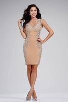 Jovani 27434 Embellished Sheer Jewel Cocktail Dress